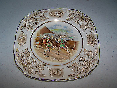 Robin Hood Captures The Pirate Ship 8 3/4'' Square Plate - John Maddock & Sons