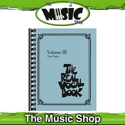 New The Real Vocal Book: Volume 3 for Low Voice Music Book