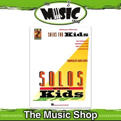 New Solos for Kids Vocal & Piano Music Book with Accompaniment CD