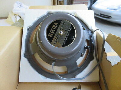 """Electra Model C-30 12"""" Coaxial Speaker Sub Vintage NEW Old Stock"""