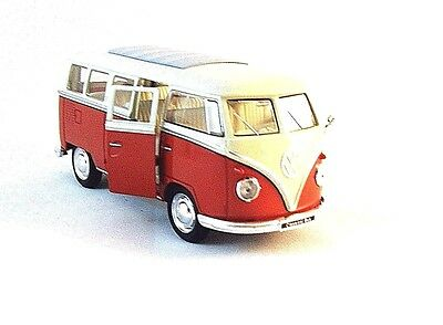 1963 Volkswagen Microbus T1 Bus Red 1:18 Scale Diecast Model 12531r