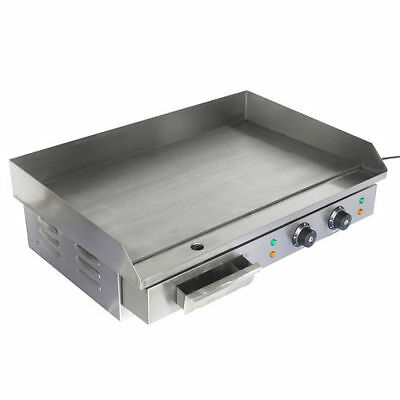4400W Commercial Electric Griddle Hot Plate Countertop Grill 50°C to 300°C BBQ