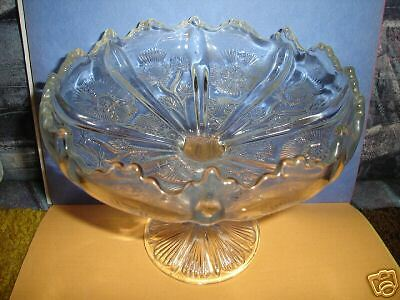 Vintage Pedestal Style Clear Cut Glass Candy Dish