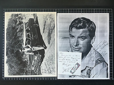 Signed JOHN BROMFIELD PHOTO & LETTER / NOTE Hollywood B-movie TV Western actor