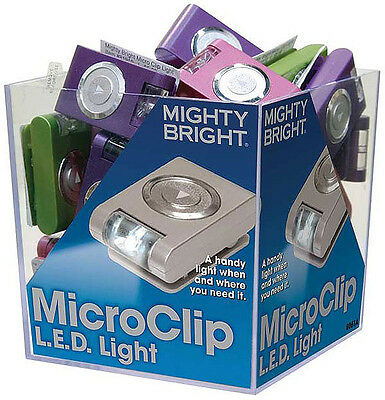 Mighty Bright Micro Clip Light  Assorted 36-Piece Cube, New