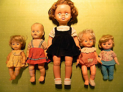 Reliable, Regal & Ideal Dolls, Lot Of 5 Dolls