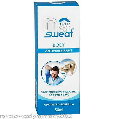 NO MORE SWEAT Total Body Anti-Pespirant ::Stop Sweating for 7 Days:: Guaranteed:
