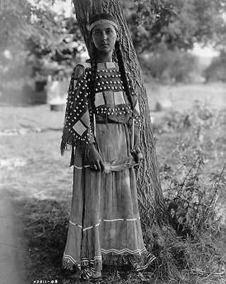 New 8x10 Native American Photo: Maiden of Sioux, North American Indian Tribe