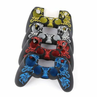 Printed Pattern Silicone Skin Case Cover For PlayStation 4 PS4 Controller