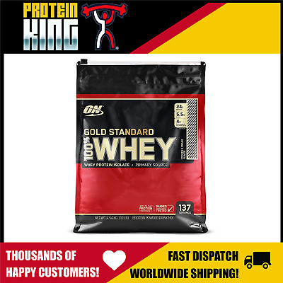 Optimum 100% Gold Standard 4.5Kg Whey Protein 10Lbs All Flavours On 10Lb Wpi Wpc