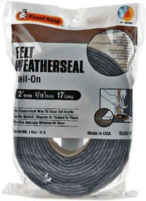 """2""""X3/16""""X17' FELT WEATHER STRIP, Part No. S22/17H, by THERMWELL PRODUCTS CO.."""