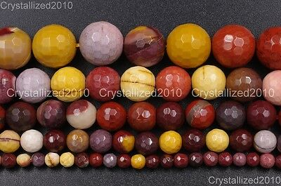 Natural Moukaite Jasper Gemstone Faceted Round Beads 4mm 6mm 8mm 10mm 12mm 15''