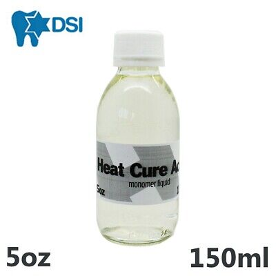 Dental Heat Cure Acrylic Liquid Hot Monomer 150ml 5oz for Lab or Dentist use