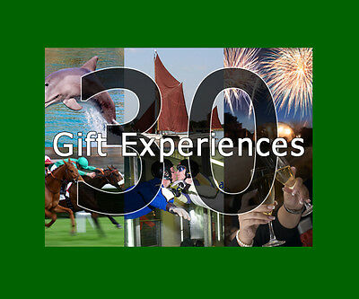 30 Experience Gift Choices for Couples - Valid min. 9 months from issue