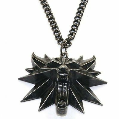 The Witcher 3 Wild Hunt Collectors Edition Medallion Wolf Head Necklace Pendant