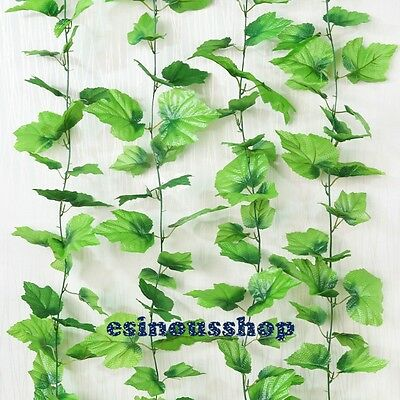 7.6ft Artificial Ivy Vine Leaf Fake Garland Plant Foliage Home Craft Decoration