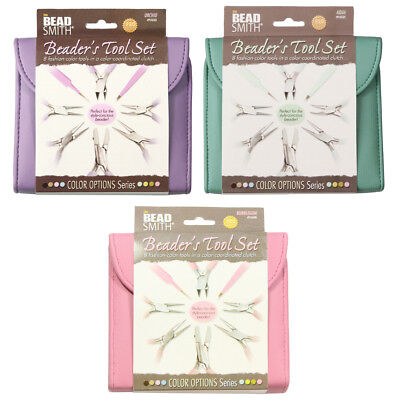 Beadsmith Fashion Color Plier Cutter Clutch Set for Beading & Jewellery Making