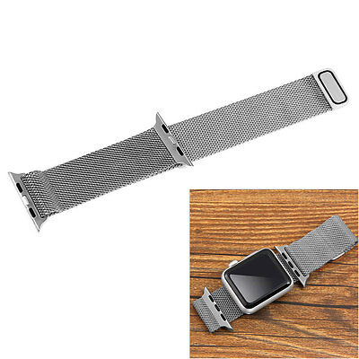 Silver Milanese Magnetic Loop Stainless Watch Band Bracelet fr 42mm Apple iWatch