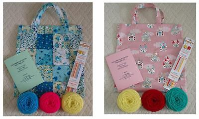 Childs Knitting Starter Kit - Learn To Knit - Wool Needles Bag Instructions