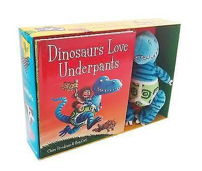 Dinosaurs Love Underpants Book & Cuddly Soft Toy Set Children Freedman Cort New