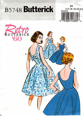 Butterick Sewing Pattern B5748 5748 Ladies Dress Retro '60 6-14 14-22
