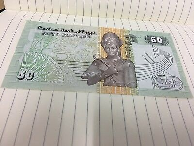 Egypt (Central Bank Of Egypt ) 50 Piasters Banknote UNC .Not available till 31/8