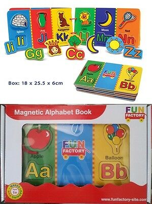 New Quality Fun & Educational Magnetic Wooden Alphabet Puzzle Book - Ages 1+ Yrs