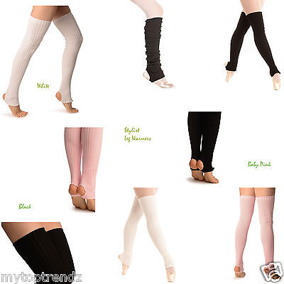 90cm Long Stirrup Legwarmers Stirrup Dance / Ballet Leg Warmers [UK SELLER]