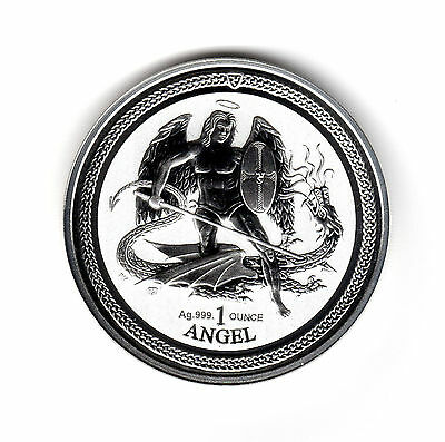 2016 Isle of Man Angel Reverse Proof 1 oz 999 Fine Silver Bullion Coin