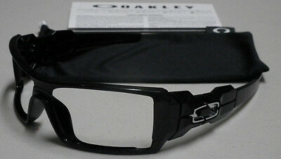 Oakley Oil Rig Polished Black Silver Ghost Text Sunglasses Frame *authentic*