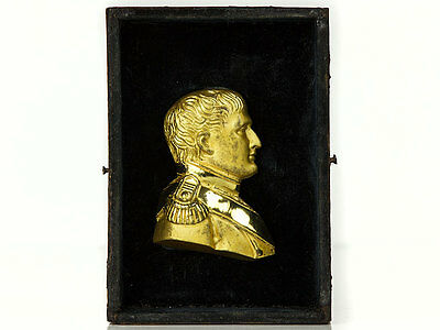 Gilt Ormolu Relief Plaque Napoleon After Leonard Posch