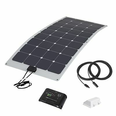 Biard 100W Semi Flexible Back Contact Solar Panel Kit 10A Charge Controller PV
