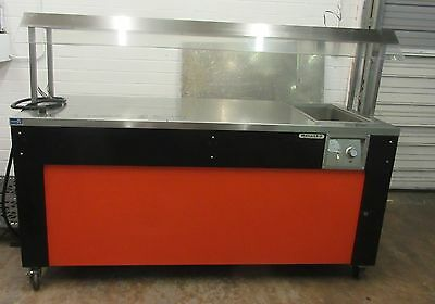 "Monarch 74"" Stainless Steel  Mobile Buffet w/ Hot Well"