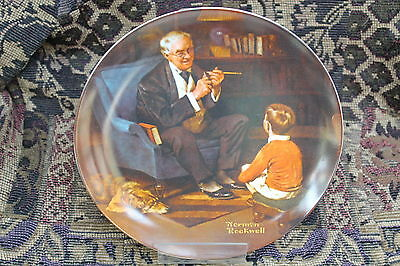 """Norman Rockwell Classic Collector Plate """"The Tycoon"""""""