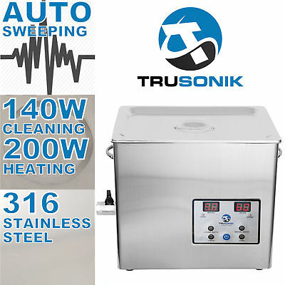 New Stainless Steel 5L Liter Industry Heated Ultrasonic Cleaner Heater Timer  M
