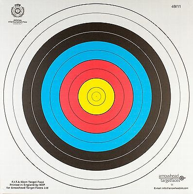 Archery Heavy Duty Fita Approved Paper Target Set 60Cm X 60Cm -100Pk
