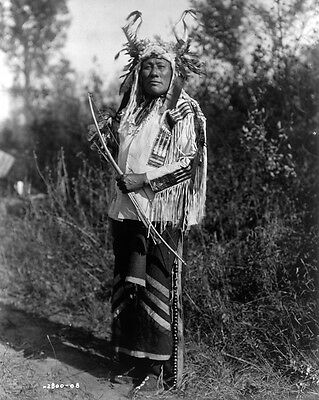 New 11x14 Native American Photo: Long Time Dog, Warrior of Hidatsa Indian Tribe