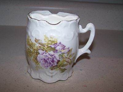 Beautiful Vintage Shaving Mug / Cup - Purple Flowers