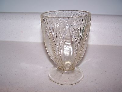 Beaded Oval And Fan #1 Pressed Glass Footed Spooner - 3 Mold