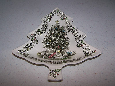Johnson Brothers Bros. Merry Christmas Tree Shape Candy Dish