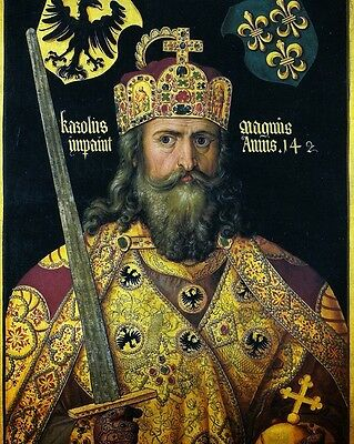 "New 8x10 Photo: Charlemagne I or ""Charles the Great"", 1st Holy Roman Emperor"
