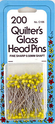 Collins Quilter's Glass Head Pins GP106, pkg. of 200