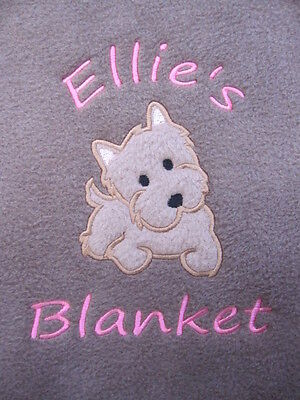 Personalised Dog / Puppy Blanket - Terrier - Soft & Cosy Fleece - New Pet - Gift