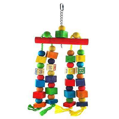 Liberta Parrot Essentials Alpha Block Bead Rope Bird Toy