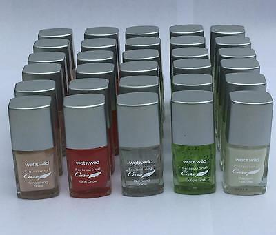 24 x NAIL TREATMENTS POLISH VARNISH SET WHOLESALE GIFT clearance WET N WILD NEW