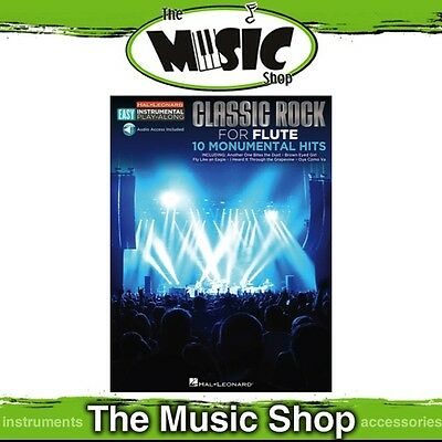 New Hal Leonard Instrumental Play Along: Classic Rock for Flute Music Book