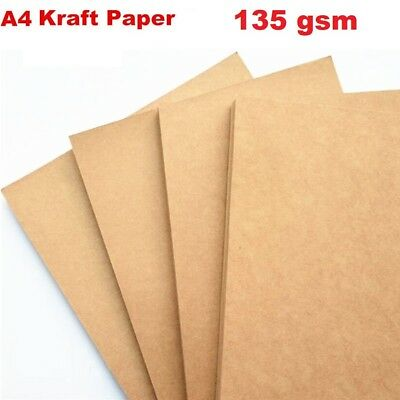 20 x A4  Kraft Brown Paper For Wedding invitation or Carft  135gsm
