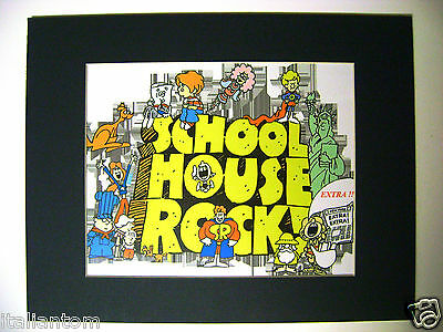 Matted Schoolhouse School House Rock Bill Conjunction Cel Animation Art Cell
