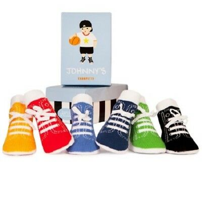 New Trumpette  JOHNNY Baby BOY 6 prs Sneakers Hi-top socks 0-12 monthS. gift
