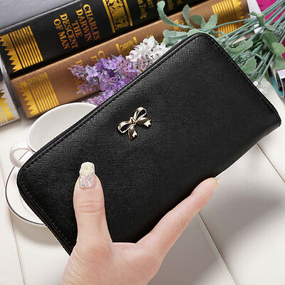 Fashion Women Clutch Wallet Long Card Holder Case Leather Purse Lady Handbag